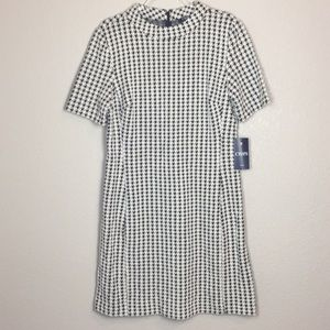 NWT CHAPS Houndstooth High Neck Dress 16
